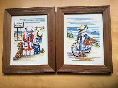 """Cross Stitch Completed Pictures, """"All Our Yesterdays"""""""