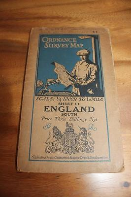 1926 Ordnance Survey 1 inch to 4 miles Sheet 11  South Central England. Cloth.