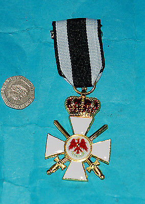 German Order Of The Red Eagle 3Rd Class Prussian Replacement Medal & Ribbon (Eg)