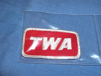 #526 - Vintage Twa Airlines Embroidered Cloth Patch
