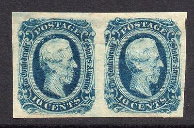 U.S.A. (Confederate States) Two 10 Cent Stamps c1863 Mounted Mint