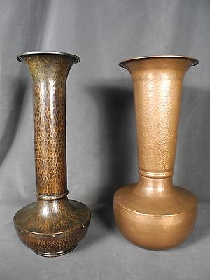 """Large 18""""  Hand Hammered Copper Vase in the style of Roycroft American Beauty"""