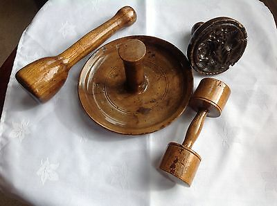 Rare Collection Of Early Victorian Treen Kitchenware