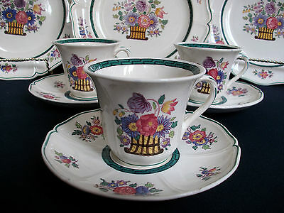 WEDGWOOD FLORAL #A6793 (c.1907-1930's)- DEMITASSE CUP & SAUCER(s)- EXCELLENT!!