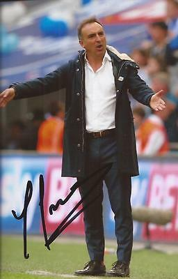 SHEFFIELD WEDNESDAY: CARLOS CARVALHAL SIGNED 6x4 ACTION PHOTO+COA