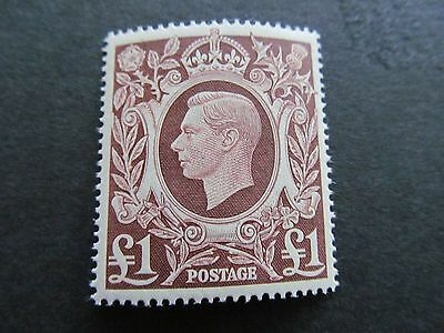 1939/48   Arms Sg478C   £1  Brown  Very Fine Unmounted Mint