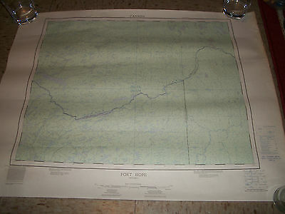 1964 Dept of Mines and Technical Surveys Map Fort Hope Ontario Canada