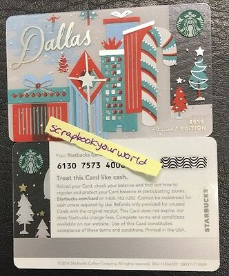 Starbucks Gift Card DALLAS Holiday City Card 2016 Special Edition MINT NEW