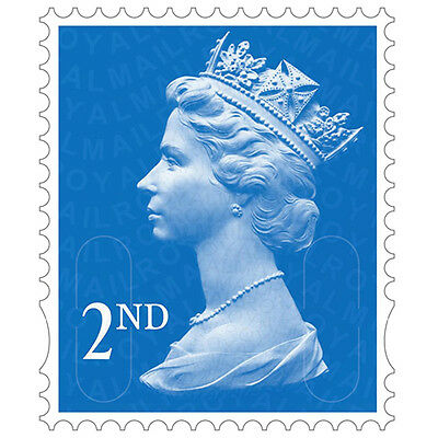 100 2nd Class Unfranked Stamps Off Paper ***Free Postage***