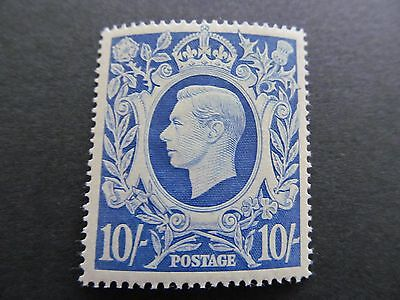1939/48   Arms Sg478B   10/-  Blue  Very Fine Mounted Mint