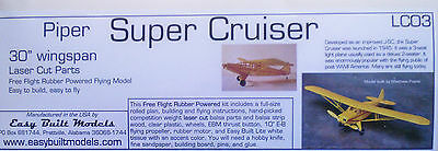Piper Super Cruiser, Model Airplane Kit, Rubber Powered, Free Flight, LC03