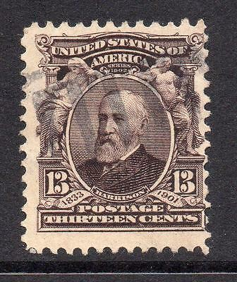 U.S.A. 13 Cent Purple/Brown Stamp c1902-08 Used