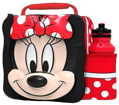 Disney Minnie Mouse 3D Lunch Bag/Box and 500ml Bottle Set | Minny Lunchbox