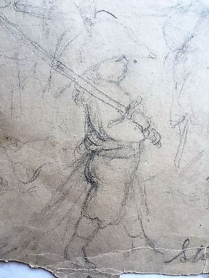 Antique American Pencil Drawing by Lilly Martin Spencer - Genre artist
