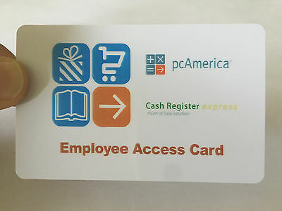 pcAmerica Magnetic Swipe Employee Access Card New FREE SHIPPING 10 Cards CRE/PRE
