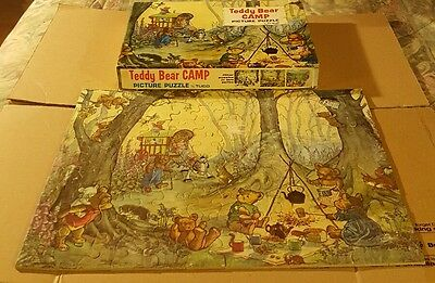 CIB Teddy Bear Camp Picture Puzzle by Tuco jigsaw tripl-thick pieces