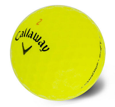 50 Mint Callaway Chrome Soft Yellow Used Golf Balls