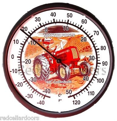 """New Illustrated Cockshutt 50 Tractor 10"""" Round Thermometer Farmer Gift Idea"""