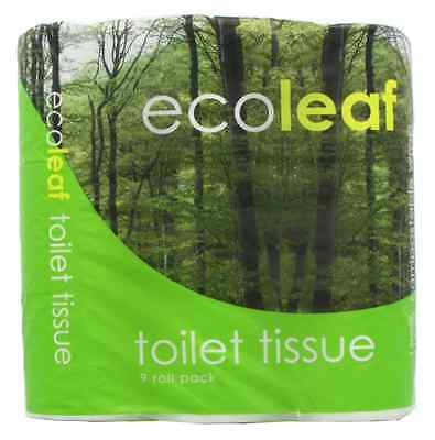 Recycled Toilet Tissue Ecoleaf From Suma 9 Rolls (Pack of 5, Total 45 Rolls)