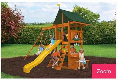 Swing Set With Fort