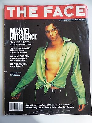 The Face Magazine Vintage September 1991 No 36 MICHAEL HUTCHENCE cover