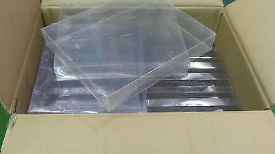 Job Lot of 10 Clear Acetate Shallow Storage Boxes 18cm x 23cm Ideal for crafts