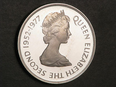 GIBRALTAR 1977 25 Pence Queen's Jubilee Silver Crown Choice Proof
