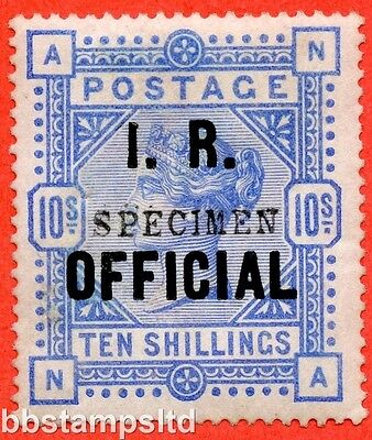"SG. 010 s. L8 (4) s. "" NA "". 10/- Ultramarine. A fine lightly mounted mint ."
