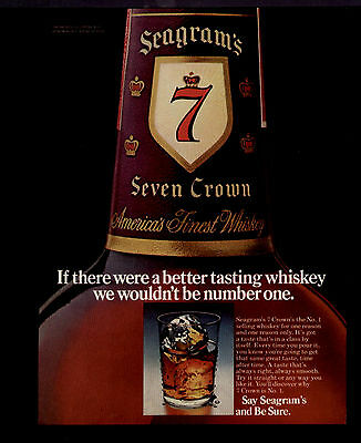 1975 A Better Tasting Whiskey Seagram's 7 Crown Ad
