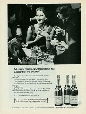 1967 America Loves Champagne From Taylor Ad
