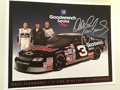 Dale Earnhardt rare signed photo with COA