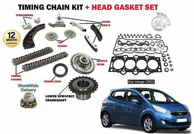 For Kia Venga 1.6 Crdi D4Fb 2010--> New Timing Chain Kit + Head Gasket Set