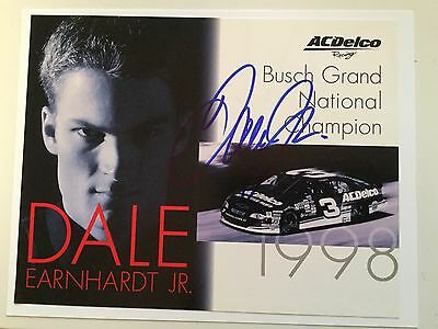 Dale Earnhardt Jr rare signed photo with COA