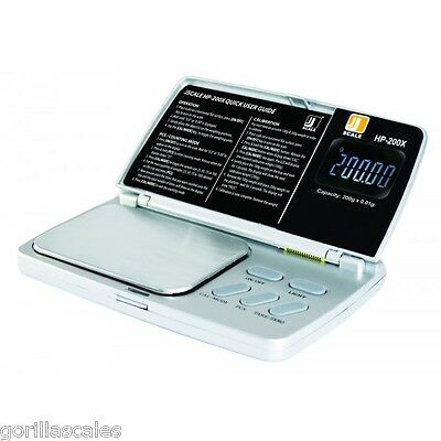 JScale HP-200X Jewellery Carat Calibration Weights Pocket Scale 200g x 0.01 Gram