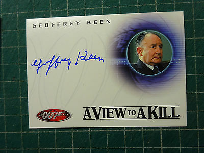 AUTOGRAPH James Bond 007 Geoffrey Keen A View To A Kill Hand Signed Trading Card
