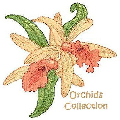 Orchids Collection - Machine Embroidery Designs On Cd