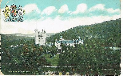 """PPC Of """"  Balmoral Castle """"  posted 1907"""