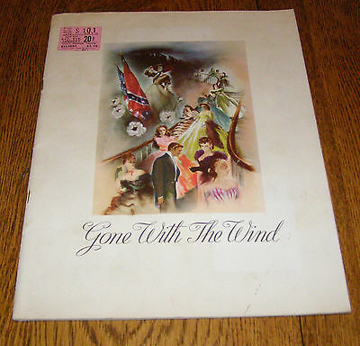 GONE WITH THE WIND Original 1939 Movie Program, (NOT A REPRINT) With Ticket Stub
