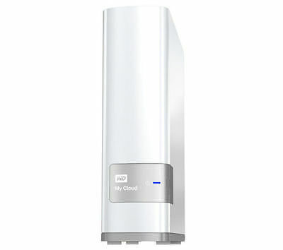 WD My Cloud External Hard Drive - 4 TB - White, Mobile app available, USB 3.0 x1