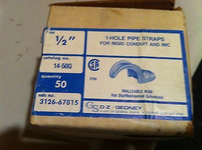 """Gedney 14-50G  Conduit Clamp 1/2"""" Trade Size, Lot of 50 - Brand New"""