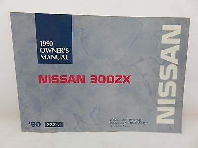 Nissan 300ZX Z32-J 1990 owners owner's manual OM0F-0Z32C1 English & French