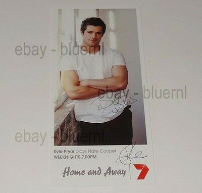 Home And Away Fan Card Dr. Nate Cooper - Hand Signed - Kyle Pryor