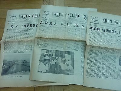 1960 Aden Calling Military Forces Newspapers X 3 Original