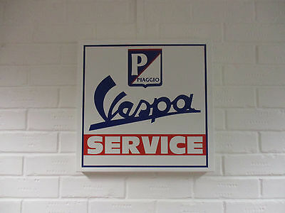 Metal Vespa Sign