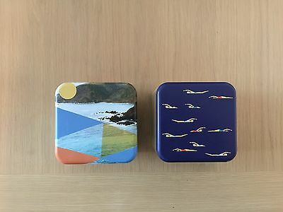 2 Fossil watch tins