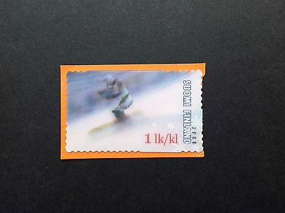 Finland 2008  Skiing 3D Stamp Used On Paper