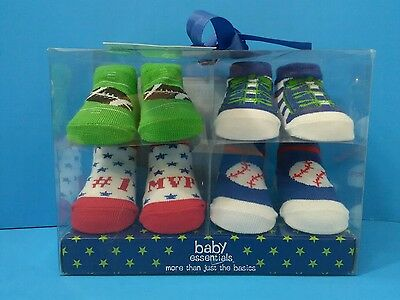 Baby Essentials Gift Pack ~ 4 pairs 0-6 months NWT SPORTS
