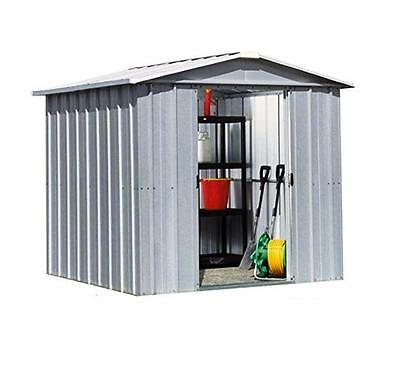 8495 Refurbished Yardmaster Apex Metal Garden Shed - Max Size 6ft 7in x 6ft 5in