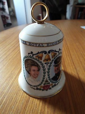 Aynsley commorative bell to Princess Anne and Mark Philips