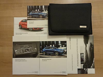 Audi RS Q3 Owners Handbook/Manual and Pack 13-17